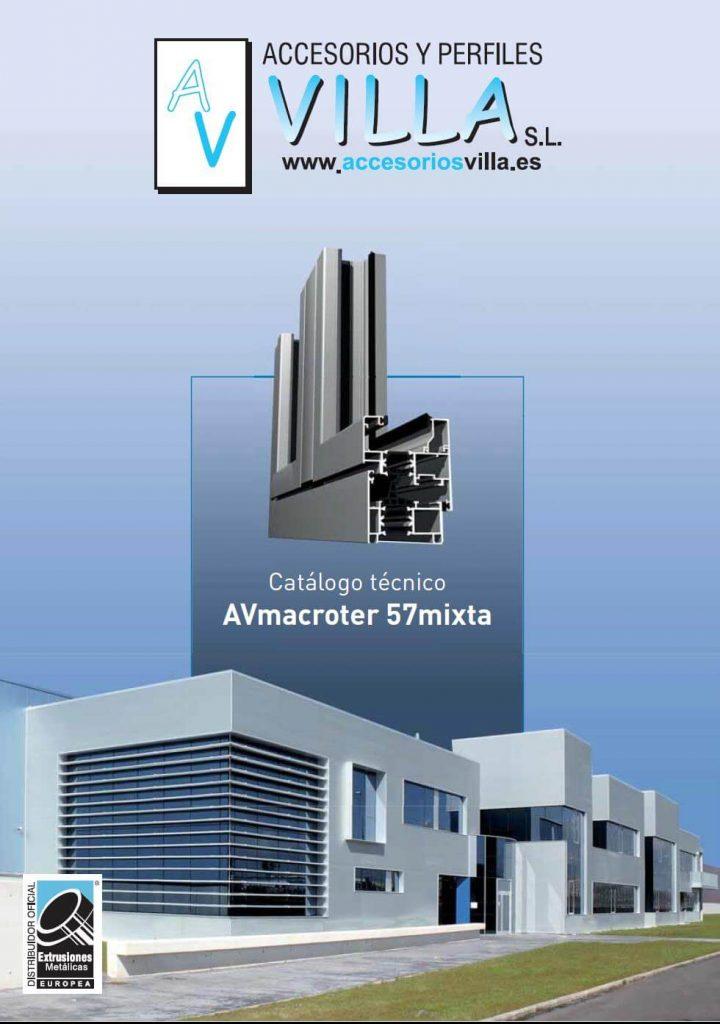 foto del catálogo técnico AVmacroter 57 Accesorios & Perfiles Villa