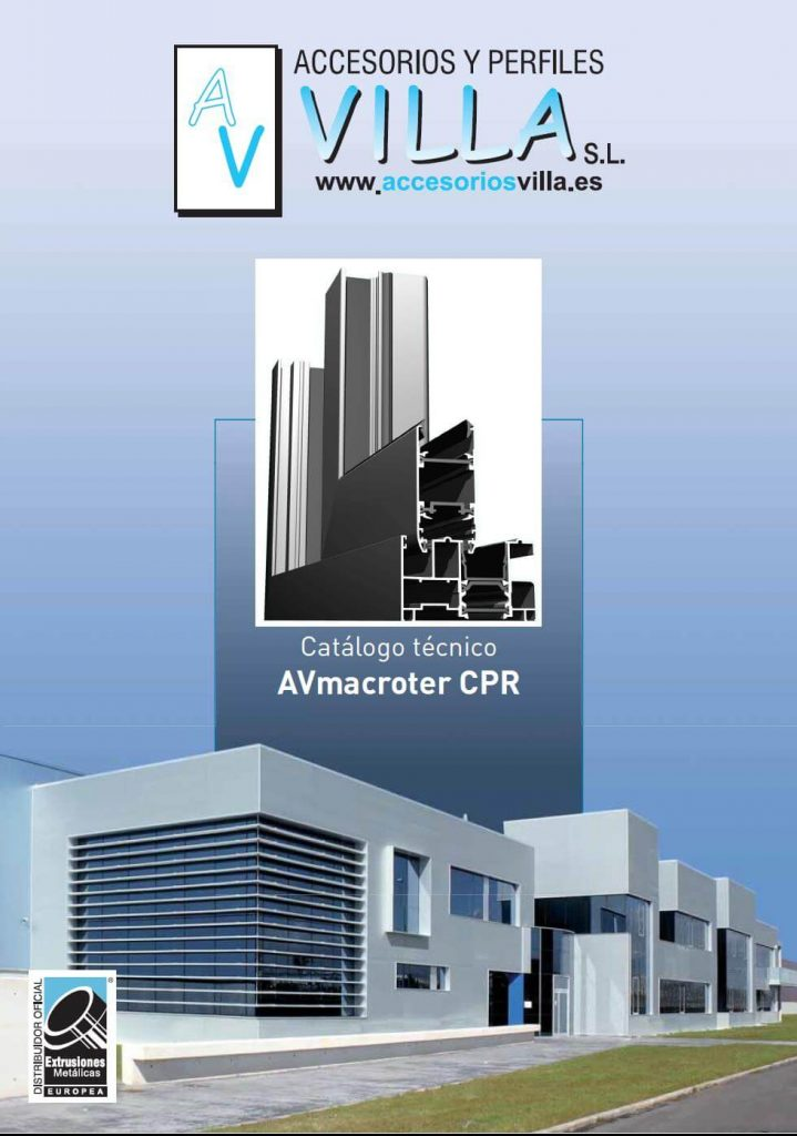 foto del catálogo técnico AVmacroter CPR Accesorios & Perfiles Villa