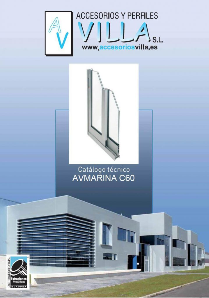 foto del catálogo técnico AVmarina C60 Accesorios & Perfiles Villa